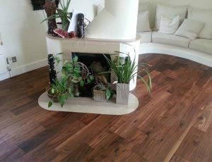 Fruition Properties Engineered Walnut Floor Installation London