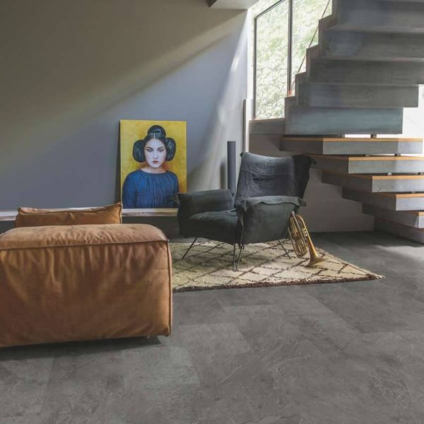 Quickstep Livyn Ambient Click AMCL40034 Grey Slate Travertin - Room