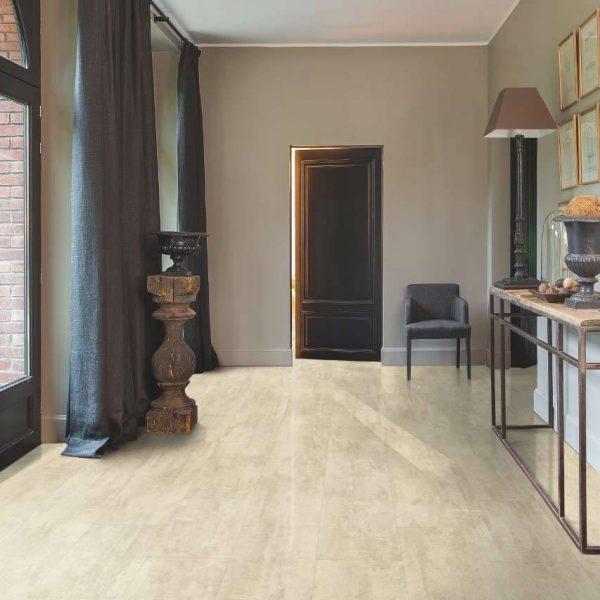 Quickstep Livyn Ambient Click AMCL40046 Cream Travertin - Room