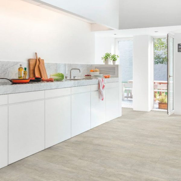 Quickstep Livyn Ambient Click Plus Light Grey Travertin AMCP40047 - Room