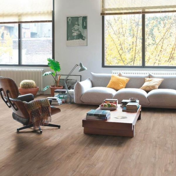 Quickstep Livyn Balance Click Plus V4 Canyon Oak Dark Brown With Saw Cuts BACP40059 - Room