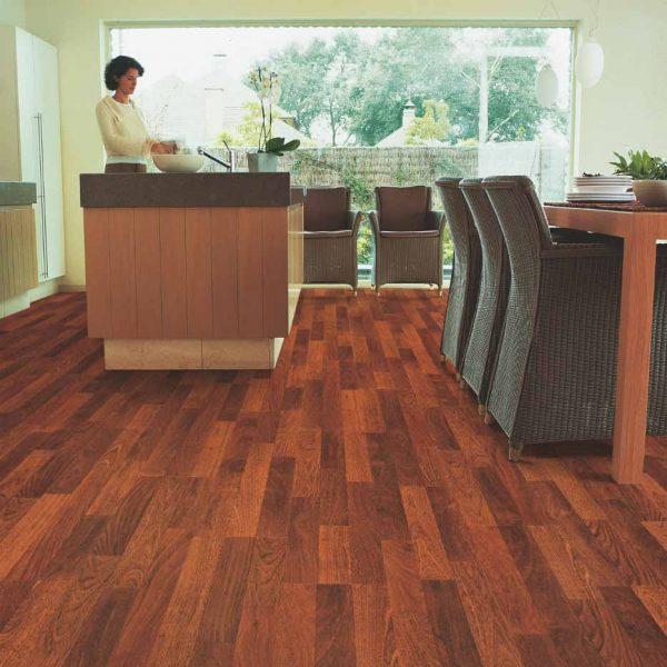 Quickstep Classic Enhanced Merbau 3 Strip CL1039 - Room