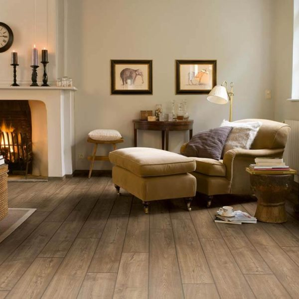 Quickstep Impressive Scraped Oak Grey Brown IM1850 - Room