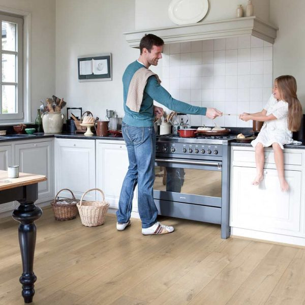 Quickstep Impressive Soft Oak Warm Grey Medium IM1856 - Room