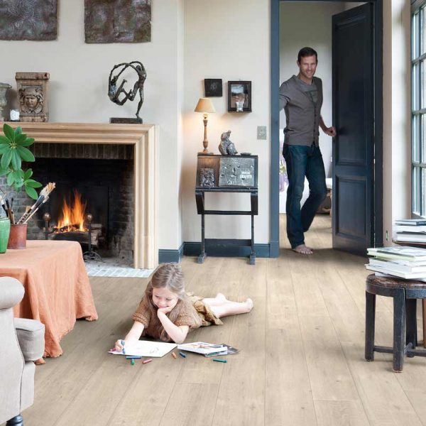 Quickstep Impressive Saw Cut Oak Beige IM1857 - Room