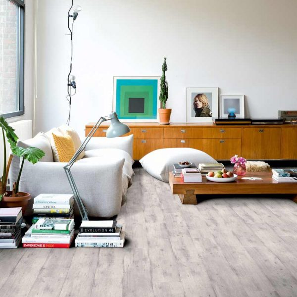 Quickstep Impressive Concrete Wood Light Grey IM1861 - Room