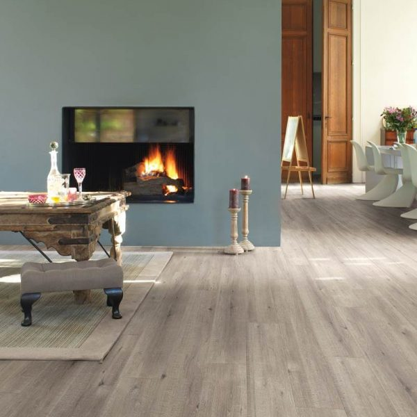 Quickstep Impressive Ultra Saw Cut Oak Grey IMU1858 - Room