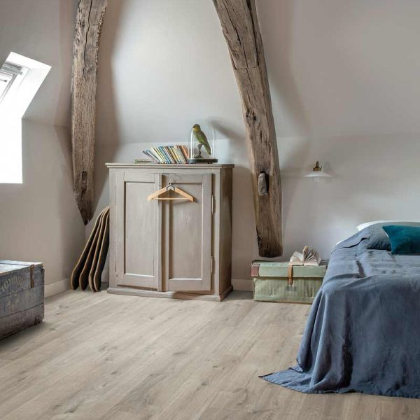 Quickstep Livyn Pulse Click Cotton Oak Grey With Saw Cuts PUCL40106 - Room