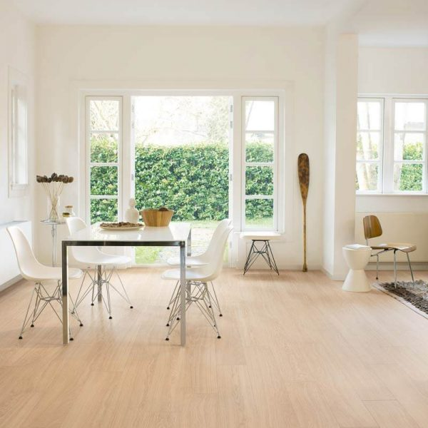 Quickstep Perspective Wide Oak White Oiled Planks UFW1538 - Room