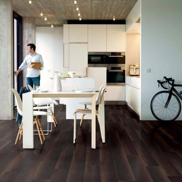 Quickstep Perspective Wide Fumed Oak Dark Planks UFW1540 - Room