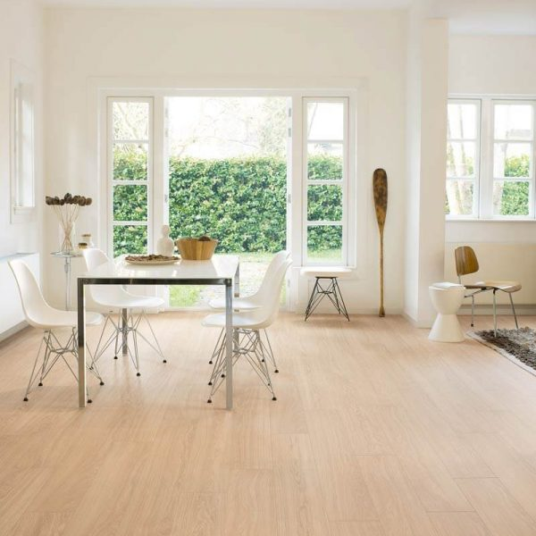 Quickstep Eligna Wide Oak White Oiled Planks UW1538 - Room