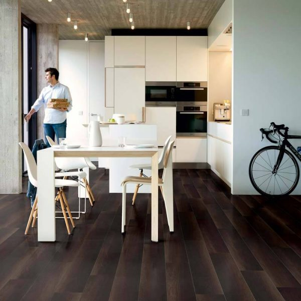 Quickstep Eligna Wide Fumed Oak Dark Planks UW1540 - Room