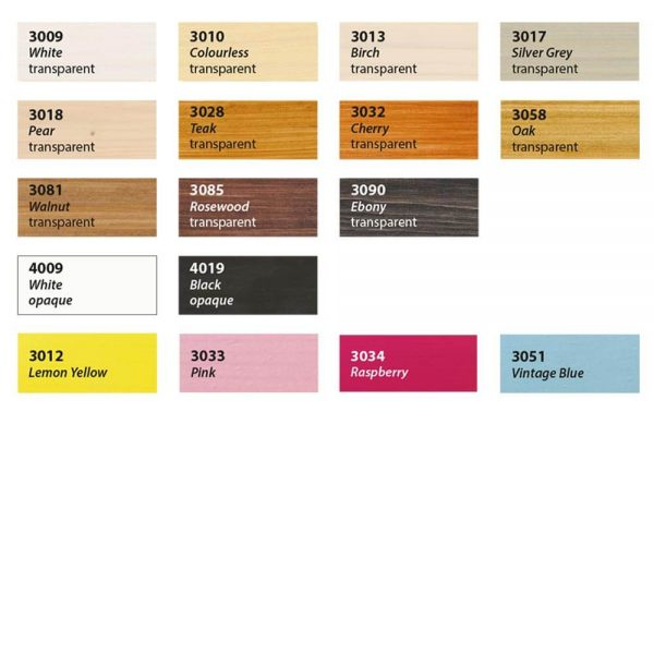 Saicos Colour Wax Chart
