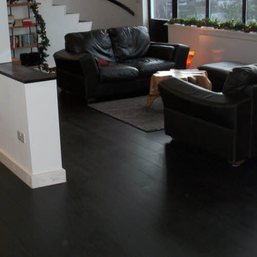 Green Kitchen Kirkman: Engineered Hardwood Floor Installation • One Stop Flooring London