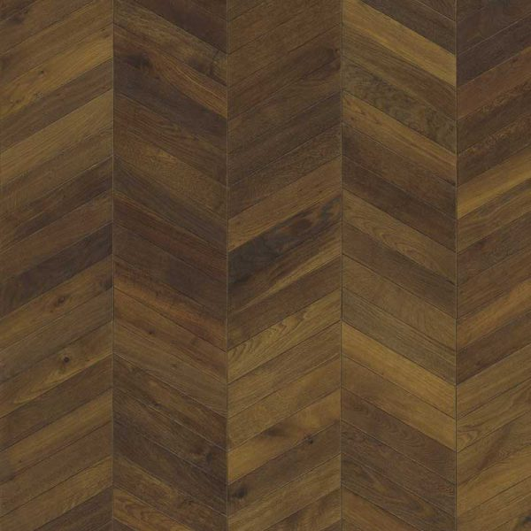 Kahrs Chevron Dark Brown Oak Engineered Wood Flooring