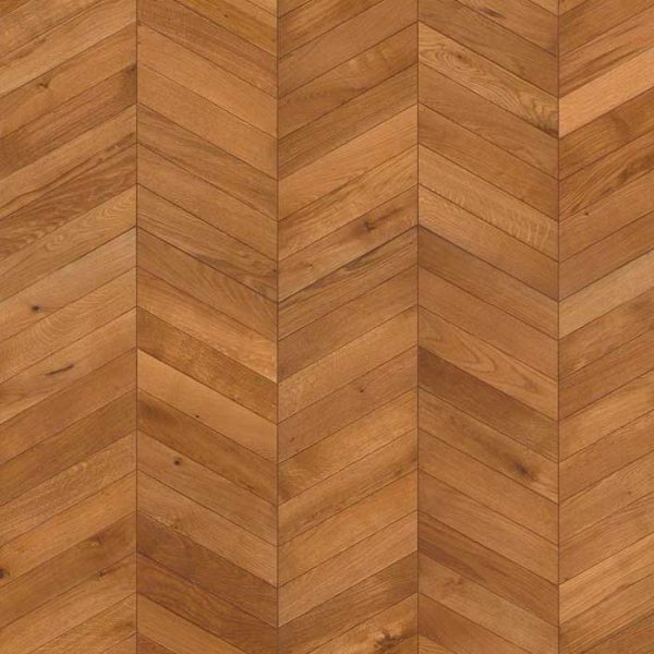 Kahrs Chevron Light Brown Oak Engineered Wood Flooring - Floor