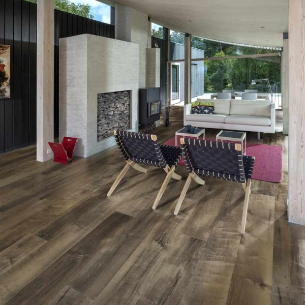 Kahrs Maple Carob Engineered Wood Flooring - Room Set