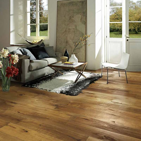 Kahrs Oak Bronzo Engineered Wood Flooring - Room Set