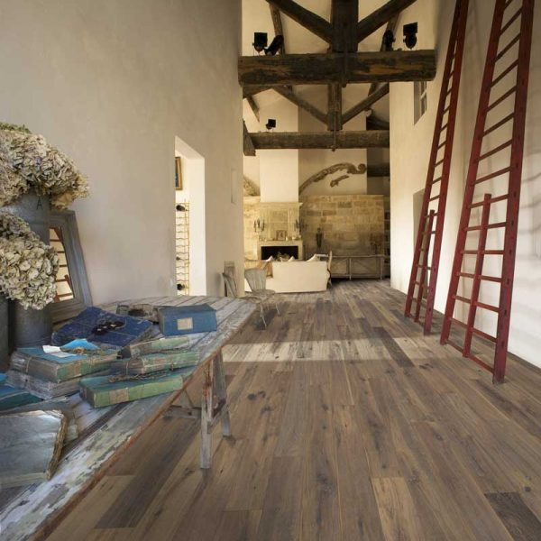 Kahrs Oak Concrete Engineered Wood Flooring - Room Set