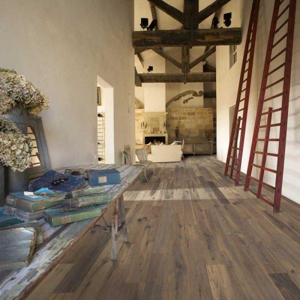 Kahrs Oak Concrete Engineered Wood Flooring - Room Set