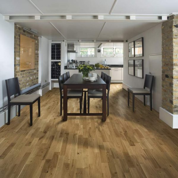 Kahrs Oak Erve Matt Lacquer Engineered Wood Flooring - Room Set