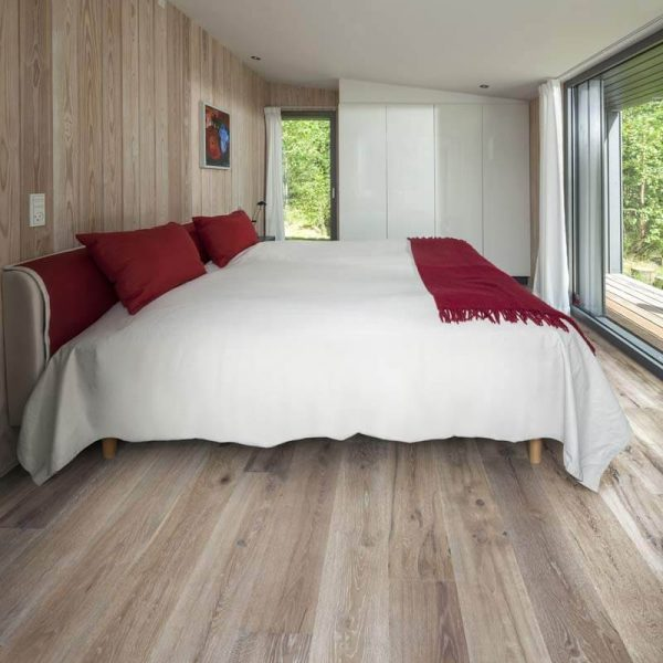 Kahrs Oak Linen Engineered Wood Flooring - Room Set