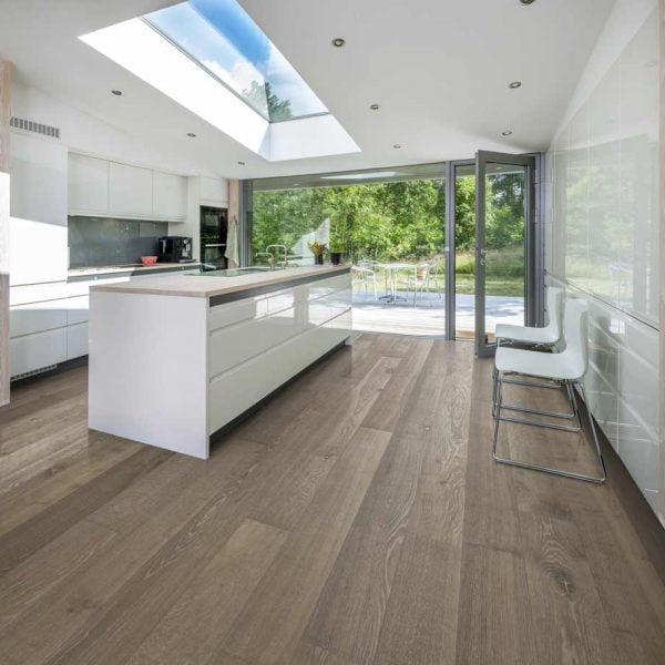 Kahrs Oak Nouveau Greige Engineered Wood Flooring - Room Set