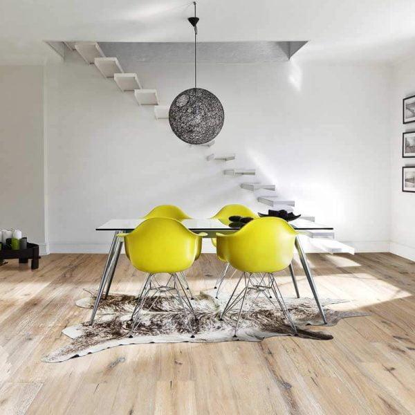 Kahrs Oak Oyster Engineered Wood Flooring - Room Set