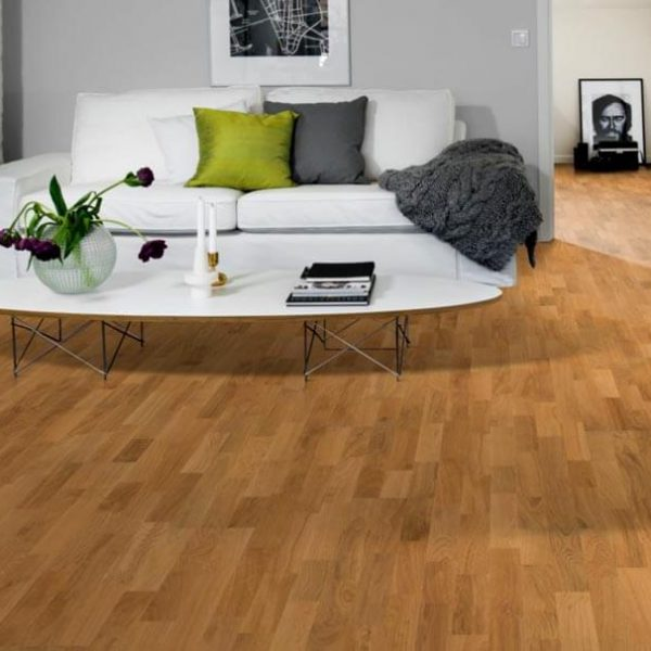 Kahrs Oak Siena 3 Strip Satin Lacquer - Room