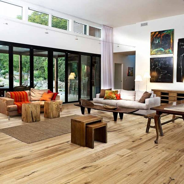 Kahrs Oak Straw Engineered Wood Flooring - Room Set