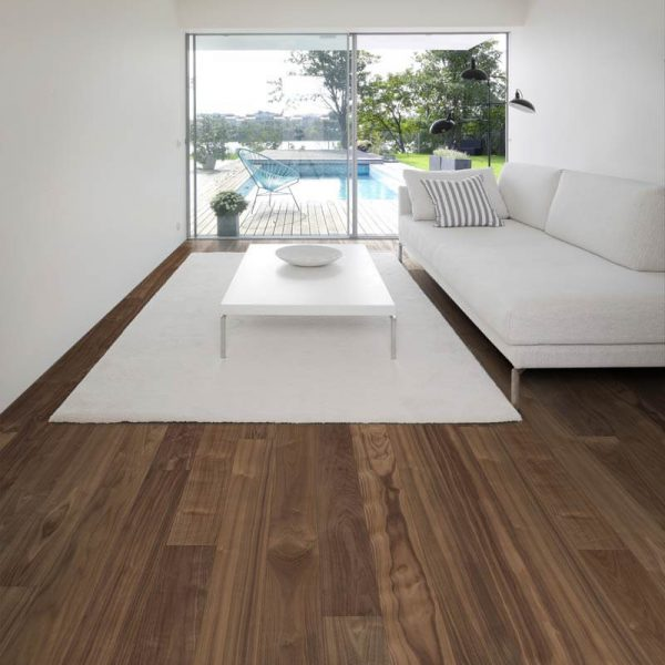 Kahrs Walnut Statue Engineered Wood Flooring - Room Set