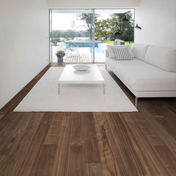 Kahrs Walnut Statue Engineered Wood Flooring - Room Set