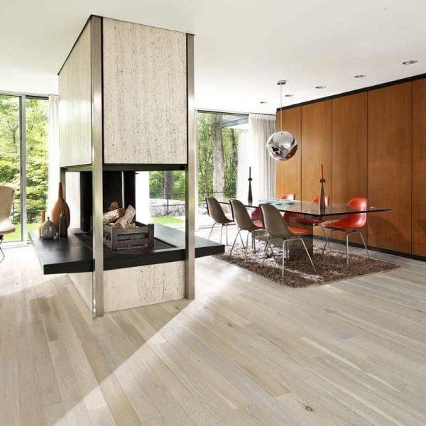 Kahrs Arctic Oak Engineered Wood Flooring - Room Set