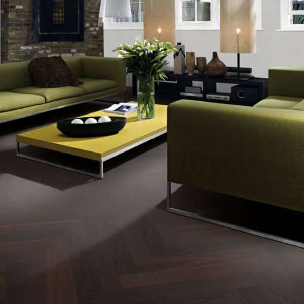 Kahrs Oak Herringbone AB Smoked Natural Oil - Room