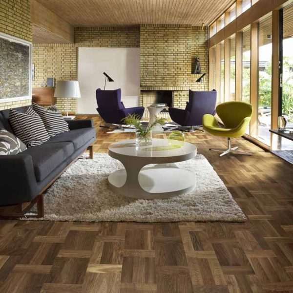 Kahrs Oak Palazzo Fumo Engineered Wood Flooring - Room Set