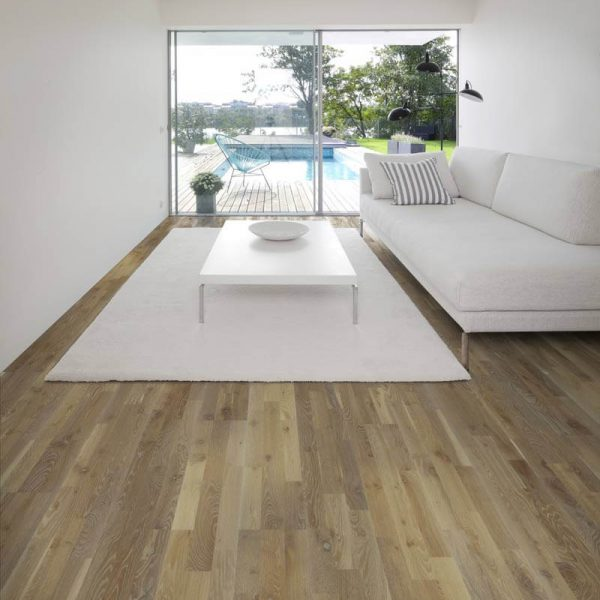 Kahrs Oak Stone Engineered Wood Flooring - Room Set