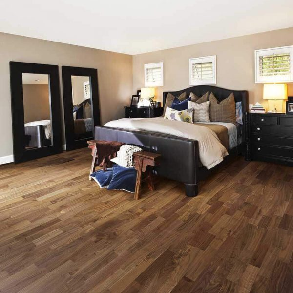 Kahrs Walnut Montreal Engineered Wood Flooring - Room Set