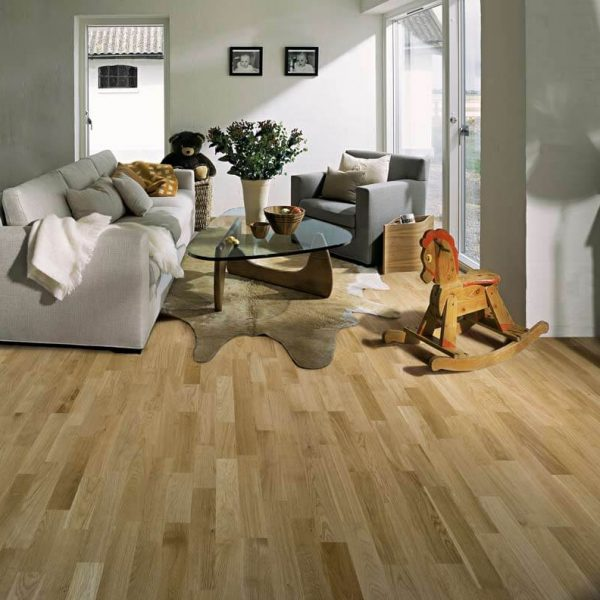 Kahrs Oak Lecco Oiled Engineered Wood Flooring - Room Set