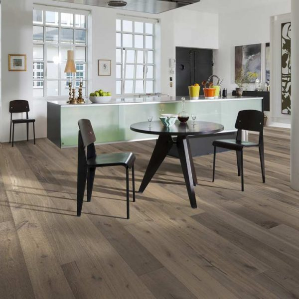 Kahrs Oak Sture Engineered Wood Flooring - Room Set