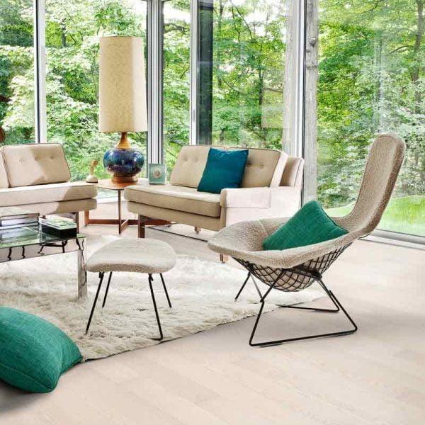 Kahrs Ash Air Engineered Wood Flooring - Room Set