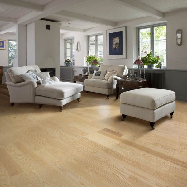 Kahrs Ash Gothenburg Engineered Wood Flooring - Room Set