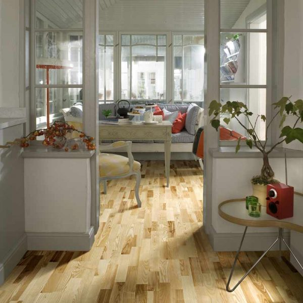 Kahrs Ash Kalmar Matt Lacquer Engineered Wood Flooring - Room Set