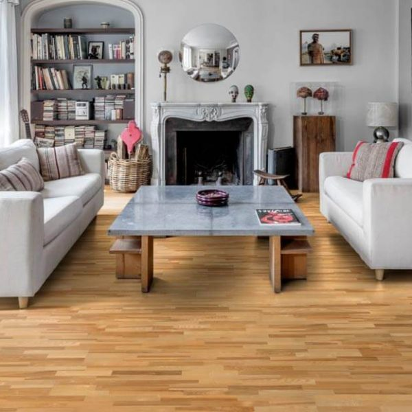 Kahrs Ash Kalmar Satin Lacquer Engineered Wood Flooring - Room