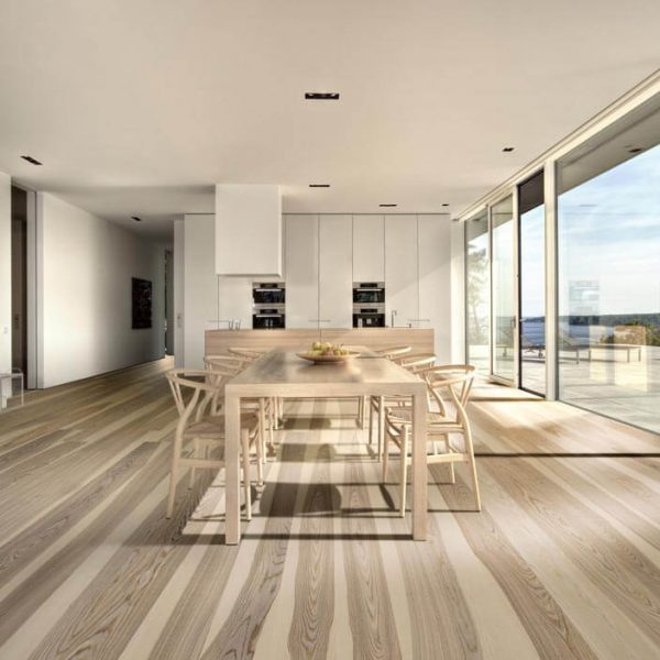 Kahrs Ash Sandvig Engineered Wood Flooring - Room Set