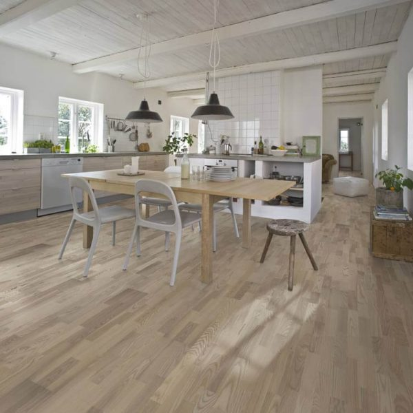 Kahrs Ash Skagen Engineered Wood Flooring - Room Set