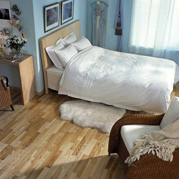 Kahrs Ash Vaila Engineered Wood Flooring - Room Set