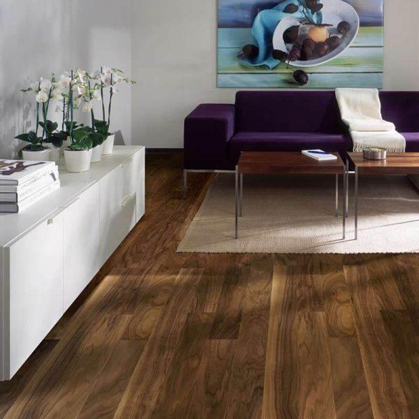 Kahrs Garden Walnut Engineered Wood Flooring - Room Set