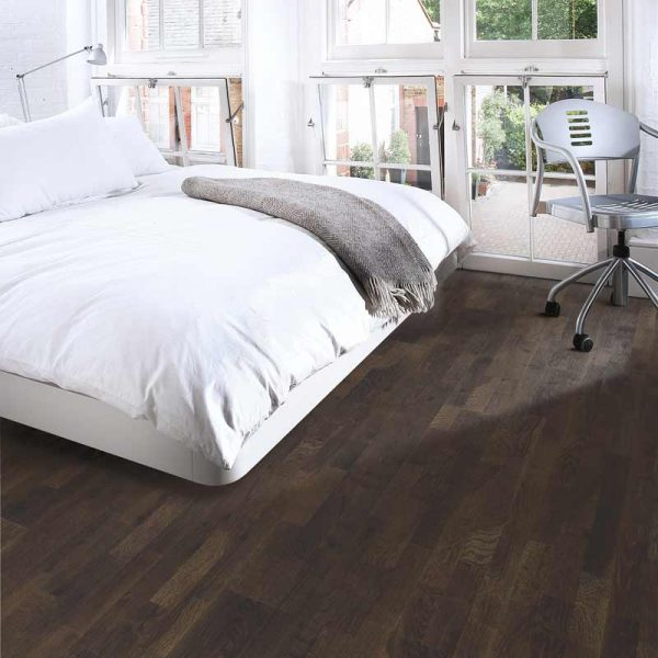 Kahrs Oak Lava Engineered Wood Flooring - Room Set