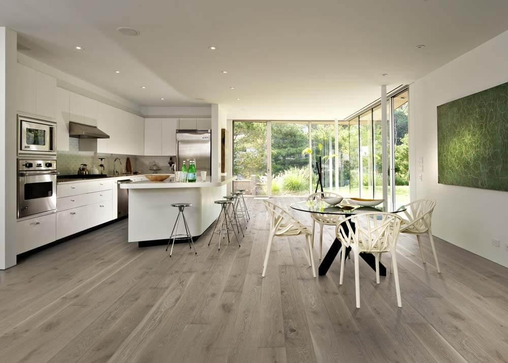 Kahrs Oak Nouveau Gray Engineered Wood Flooring - Room Set