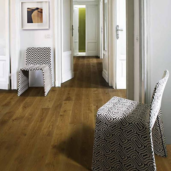 Kahrs Oak Nouveau Rich Engineered Wood Flooring - Room Set